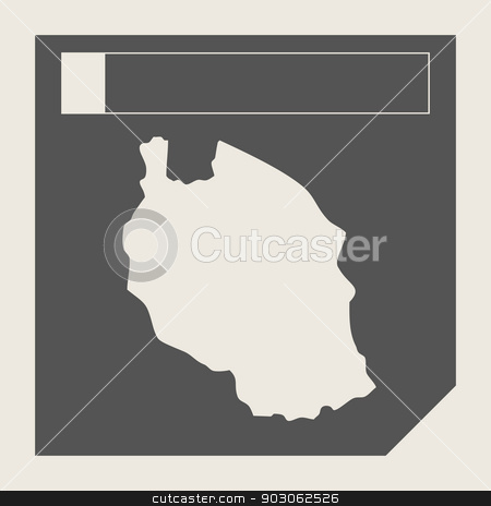 Tanzania map button stock photo, Tanzania map button in responsive flat web design map button isolated with clipping path. by Martin Crowdy