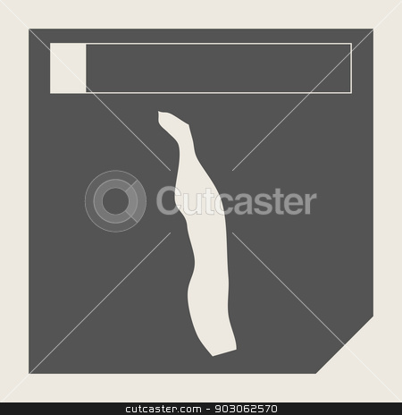Togo map button stock photo, Togo map button in responsive flat web design map button isolated with clipping path. by Martin Crowdy