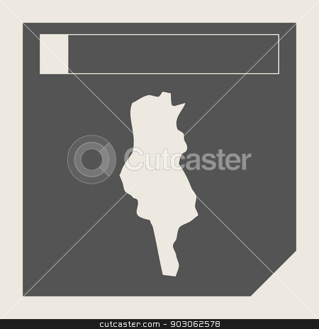 Tunisia map button stock photo, Tunisia map button in responsive flat web design map button isolated with clipping path. by Martin Crowdy