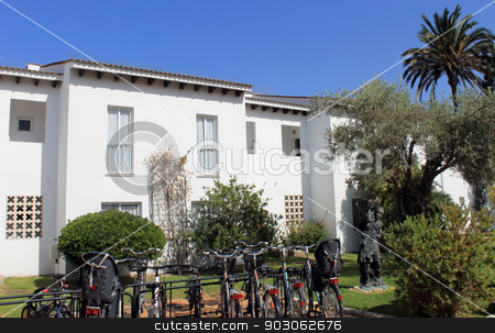 Vacation apartments stock photo, Vacation apartments in Spanish tourist resort, Majorca, Spain. by Martin Crowdy