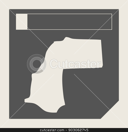 Western Sahara map button stock photo, Western Sahara map button in responsive flat web design map button isolated with clipping path. by Martin Crowdy