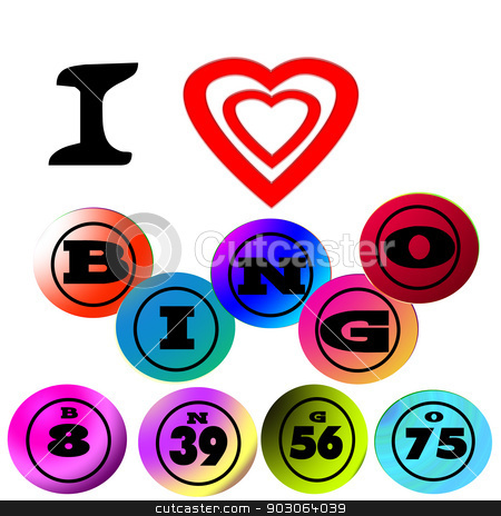 I love bingo stock photo, I love bingo by CHERYL LAFOND