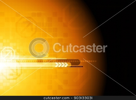 Hi-tech vector design stock vector clipart, Colorful technical background. Eps 10 vector illustration by saicle