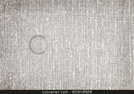 Gray linen background stock photo, Natural gray linen fabric woven background or texture by Elena Elisseeva