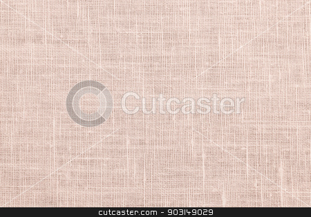 Pink linen fabric background stock photo, Pink linen woven fabric background or texture by Elena Elisseeva