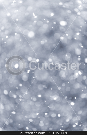 Snowfall background stock photo, Background of snow flurry falling in winter with some motion blur by Elena Elisseeva