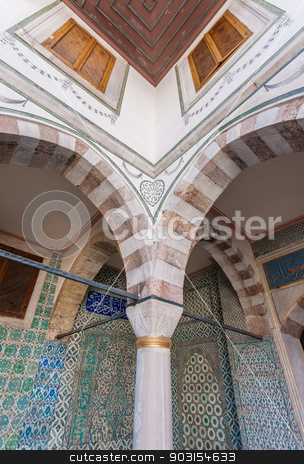 Detail of Harem Courtyard stock photo, Detail of Harem Courtyard from Topkapi Place in Istanbul by Scott Griessel