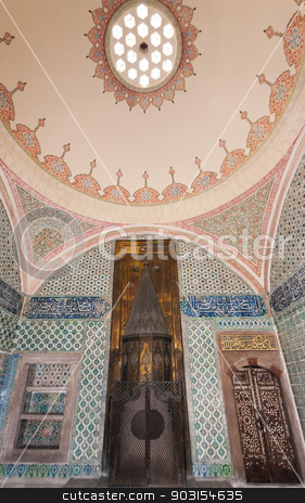 Detail of Harem Room stock photo, Detail of Harem Room from Topkapi Place in Istanbul by Scott Griessel