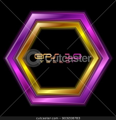Vector hexagon abstract shape stock vector clipart, Bright hexagon abstract shape. Vector logo eps 10 by saicle