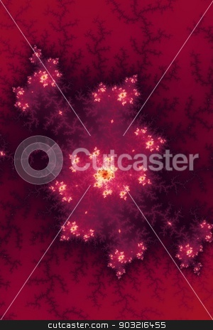 Red Fractal stock photo, Mandelbrot fractal in the colors of Red. by Henrik Lehnerer