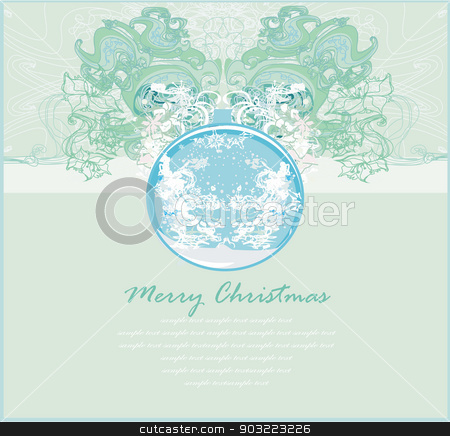 Elegant Christmas background with bauble card stock vector clipart, Elegant Christmas background with bauble card by Jacky Brown