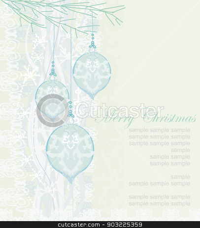 elegant christmas background with baubles  stock vector clipart, elegant christmas background with baubles  by Jacky Brown