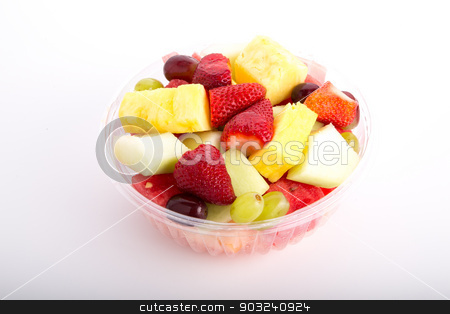 Fresh Cut Fruit Bowl stock photo, A bowl of fresh cut fruit on a white counter by Darryl Brooks