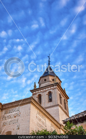 Santa Maria Church Alhambra Granada Andalusia Spain stock photo, Santa Maria Church Alhambra Granada Andalusia Spain. Alhambra is the last Moorish Moslem Palace that was conquered by King Ferdinand and Queen Isabella in 1492. by William Perry