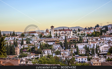 Granada Cityscape Churches Andalusia Spain stock photo, Granada Cityscape Churches Andalusia Spain   by William Perry