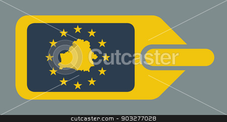 Belarus European luggage label stock photo, Belarus European travel luggage label or tag in flat web design colors. by Martin Crowdy