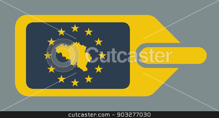 Belgium European luggage label stock photo, Belgium European travel luggage label or tag in flat web design colors. by Martin Crowdy