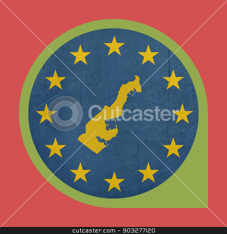 European Union Monaco marker button stock photo, European Union Monaco marker button isolated on white background. by Martin Crowdy