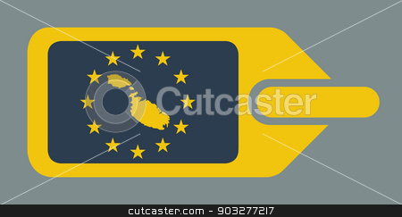 Malta European luggage label stock photo, Malta European travel luggage label or tag in flat web design colors. by Martin Crowdy