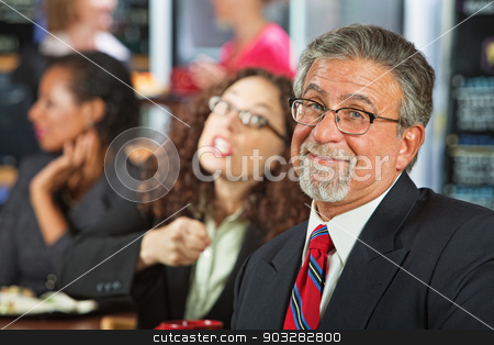 Bickering Business People stock photo, Two arguing business people in coffee house by Scott Griessel