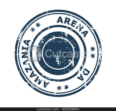 Arena da Amazania stadium stamp stock photo, Arena da Amazania stadium in Brazil grunge stamp isolated on a white background. by Martin Crowdy