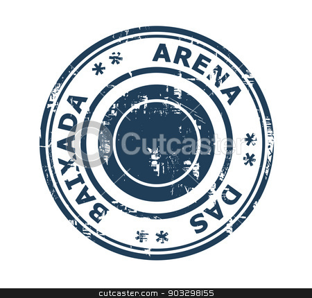 Arena da Baixada stadium stamp stock photo, Arena da Baixada stadium in Brazil grunge stamp isolated on a white background. by Martin Crowdy