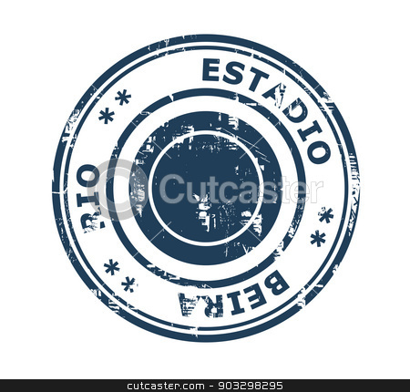 Estadio Beira Rio Stadium stamp stock photo, Estadio Beira Rio in Brazil grunge stamp isolated on a white background. by Martin Crowdy