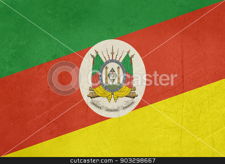Grunge flag of Rio Grande do Sul state in Brazil stock photo, Grunge flag of Rio Grande do Sul state in Brazil by Martin Crowdy