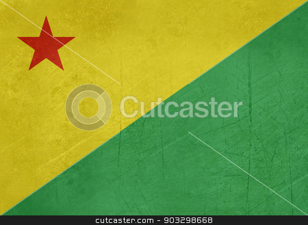 Grunge state flag of Acre in Brazil stock photo, Grunge state flag of Acre in Brazil. by Martin Crowdy