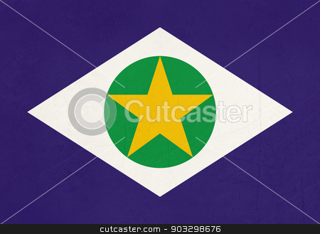 Grunge state flag of Mato Grosso in Brazil stock photo, Grunge state flag of Mato Grosso in Brazil. by Martin Crowdy