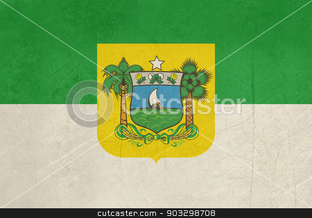 Grunge state flag of Rio do Norte in Brazil stock photo, Grunge state flag of Rio do Norte in Brazil. by Martin Crowdy