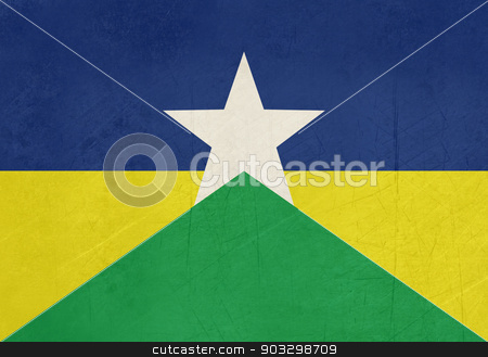 Grunge state flag of Rondonia in Brazil stock photo, Grunge state flag of Rondonia in Brazil. by Martin Crowdy