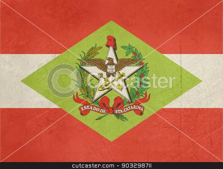 Grunge state flag of Santa Catarina in Brazil stock photo, Grunge state flag of Santa Catarina in Brazil by Martin Crowdy