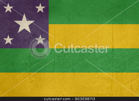 Grunge state flag of Sergipe in Brazil stock photo, Grunge state flag of Sergipe in Brazil. by Martin Crowdy