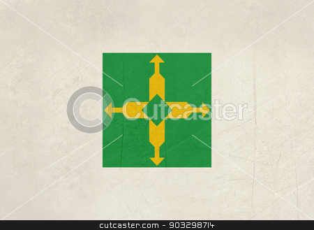 Grunge state flag of the Federal District in Brazil stock photo, Grunge state flag of the Federal District in Brazil. by Martin Crowdy