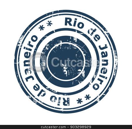 Rio de Janeiro Brazil stamp stock photo, Grunge stamp of the city of Rio de Janeiro in Brazil isolated on a white background. by Martin Crowdy