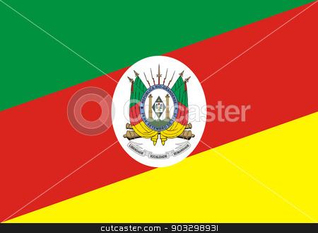 Flag of Rio Grande do Sul state in Brazil stock photo, Flag of Rio Grande do Sul state in Brazil by Martin Crowdy