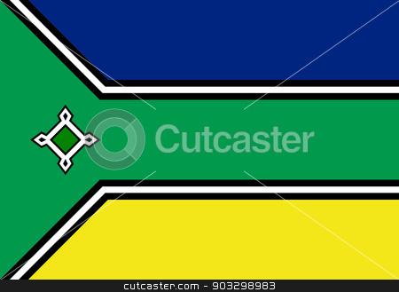 State flag of Amapa in Brazil stock photo, State flag of Amapa in Brazil. by Martin Crowdy