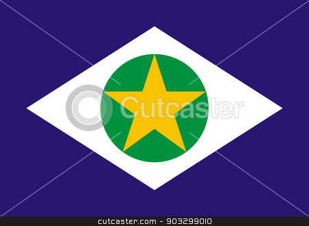 State flag of Mato Grosso in Brazil stock photo, State flag of Mato Grosso in Brazil. by Martin Crowdy