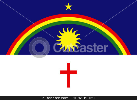 State flag of Pernambuco in Brazil stock photo, State flag of Pernambuco in Brazil. by Martin Crowdy