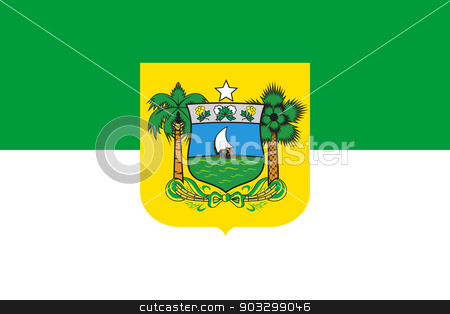 State flag of Rio do Norte in Brazil stock photo, State flag of Rio do Norte in Brazil. by Martin Crowdy