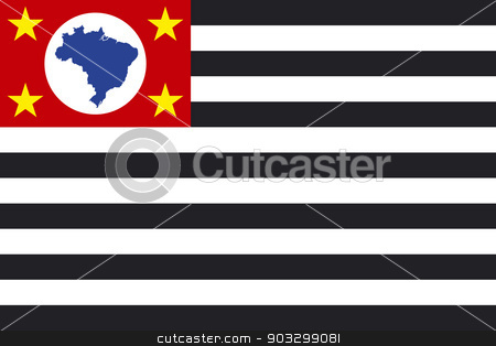 State flag of Sao Paulo in Brazil stock photo, State flag of Sao Paulo in Brazil.  by Martin Crowdy