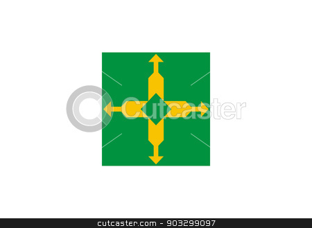 State flag of the Federal District in Brazil stock photo, State flag of the Federal District in Brazil.  by Martin Crowdy