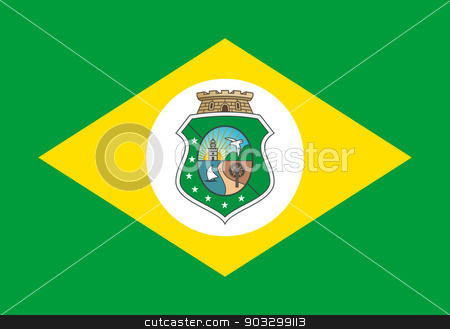State flag of Ceara in Brazil stock photo, State flag of Ceara in Brazil.  by Martin Crowdy
