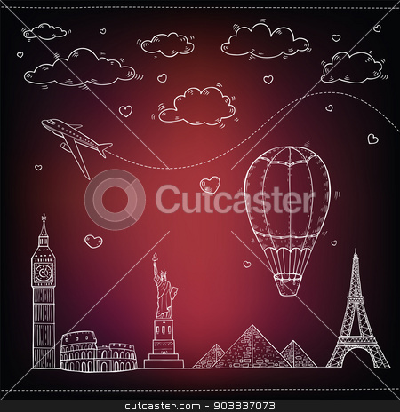 Travel and tourism background.