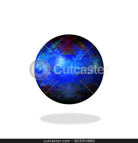Abstract Blue Globe stock photo, Blue color globe on white background. by Henrik Lehnerer