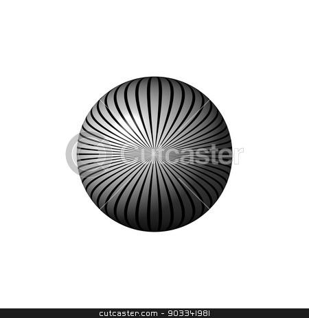 Black and White Star Globe stock photo, Black and white globe on white background. by Henrik Lehnerer