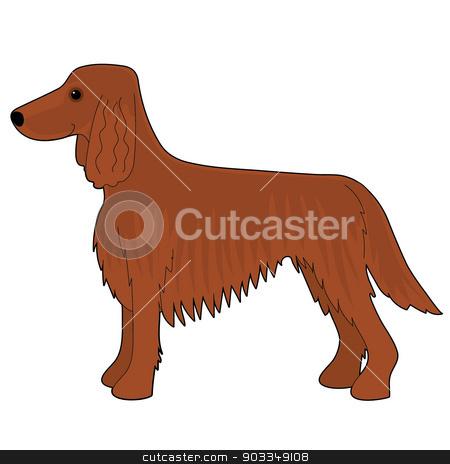 Irish Setter Dog stock vector clipart, A cartoon illustration of an Irish Setter dog by Maria Bell