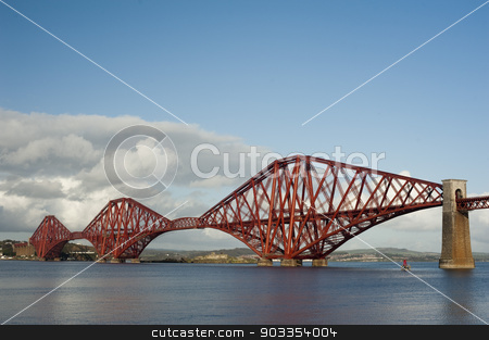 the forth bridge stock photo, iconic victorian engineering allowing trains to cross over the firth of forth by Stephen Gibson