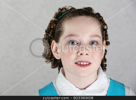 Close Up of Irish Child stock photo, Close up of Irish female child with freckles by Scott Griessel